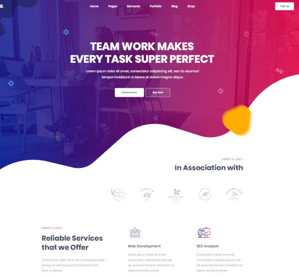 creative multi purpose psd template