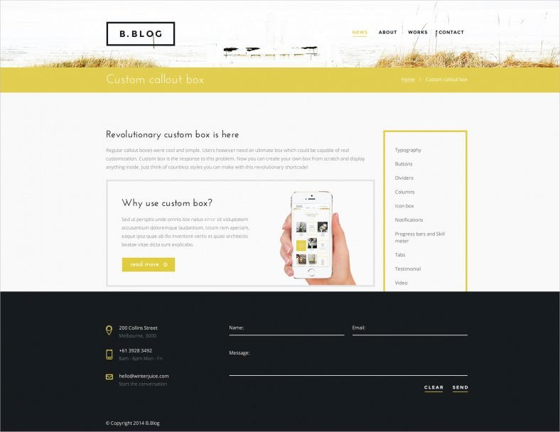 10 best business blogger free premium templates themes free creative portfolio psd template wajeb
