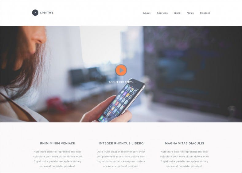 creativs – free complete psd html5 website template 788x565