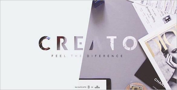 creato creative psd template