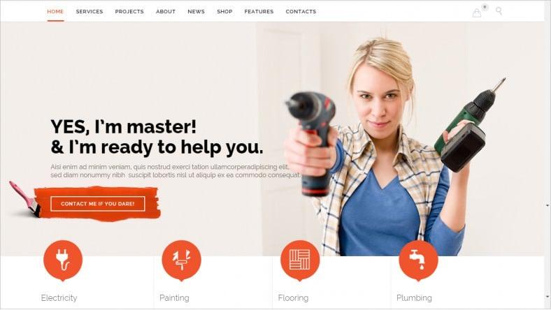 customizable plumber website template 58 788x444