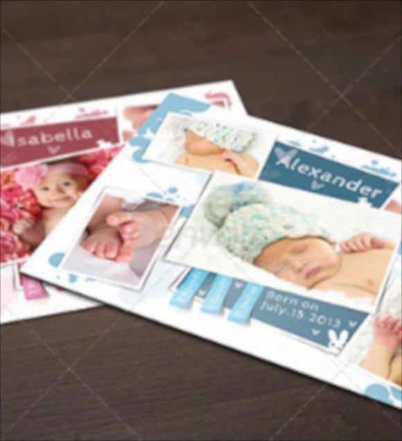 cute baby announcement shower card