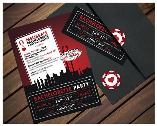 Printable Bachelorette Party Invitations  GangcraftNet