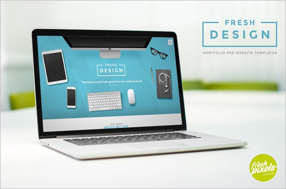 cute portfolio psd template