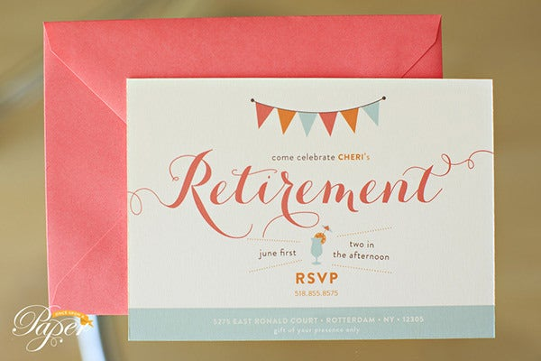 cute retirement party invitation template