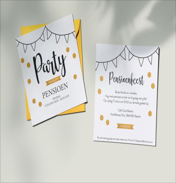 cute sample retirement party invitation template1