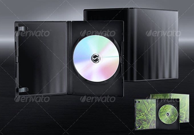 dvd case template from graphic river