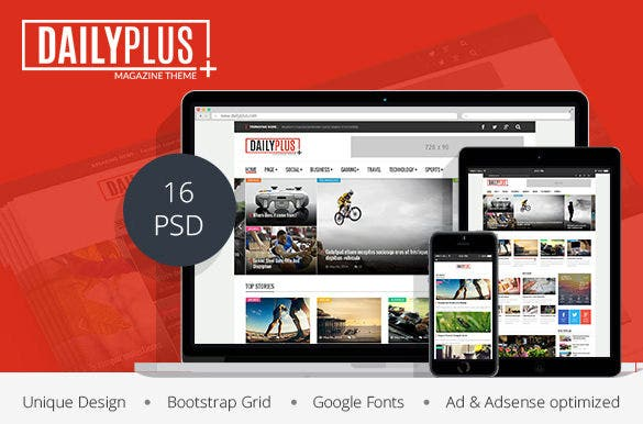 dailyplus – news magazine psd temp