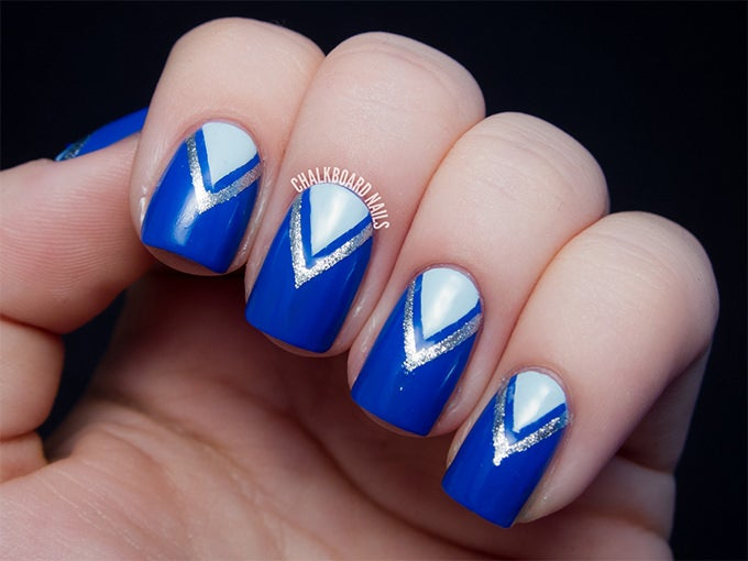 Dark Blue Nail Design - 25+ Blue Nail Art Designs & Ideas Free & Premium Templates