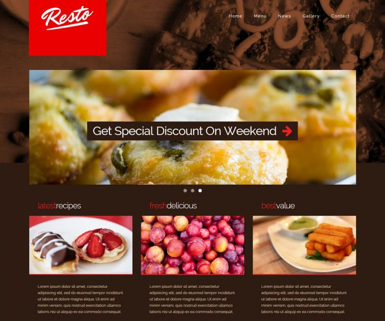 Decor Responsive Restaurant Template 16 788x657 Free Demo