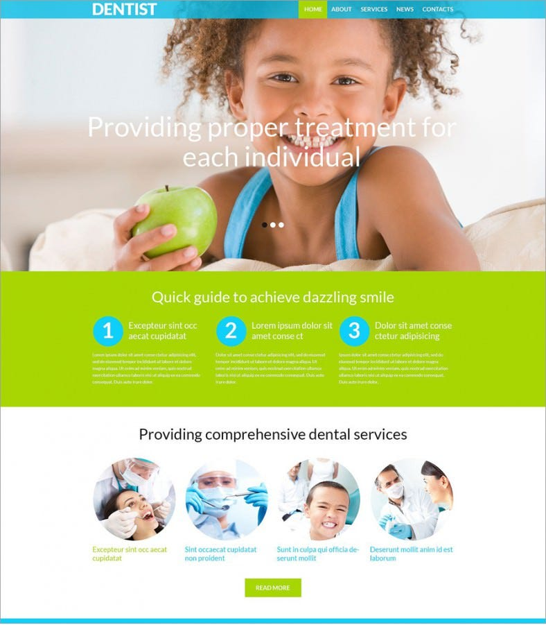 dental clinicl green responsive wordpress theme 75 788x901
