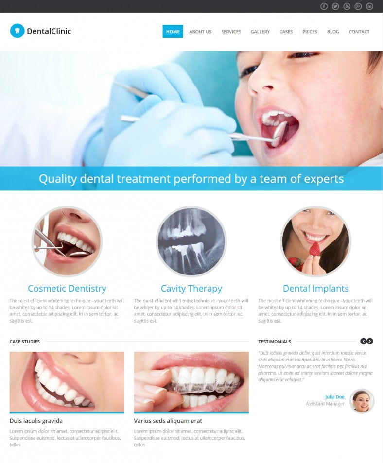 10 best dentist website templates free premium themes free