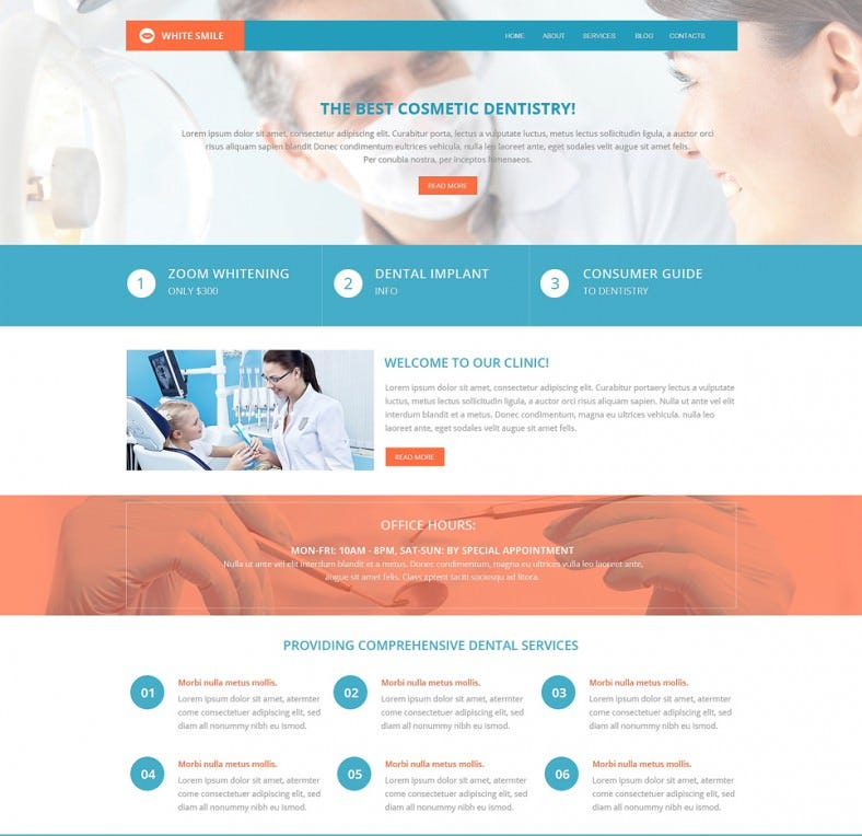 dentistry drupal template 788x764