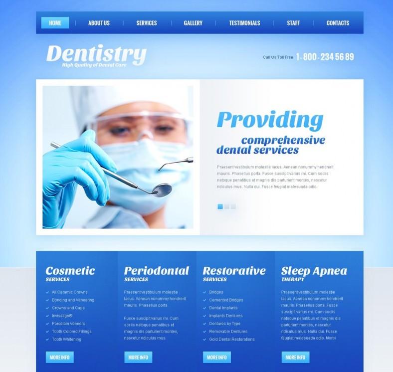 dentistry joomla template1 788x746