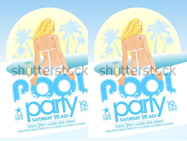design pool party invitationtemplate