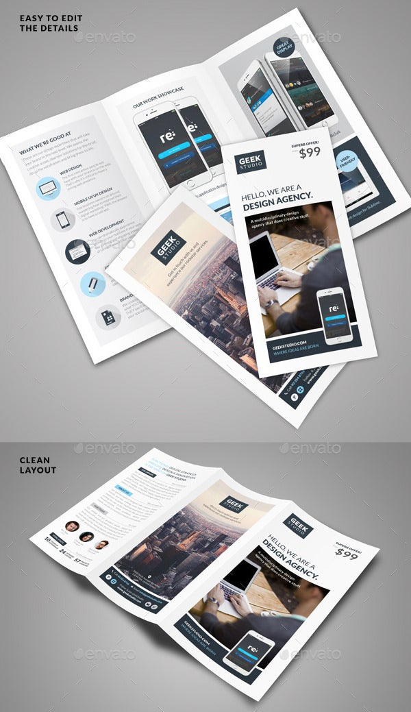 digital design firm brochure template