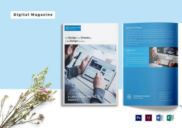 digital photography magazine template to edit