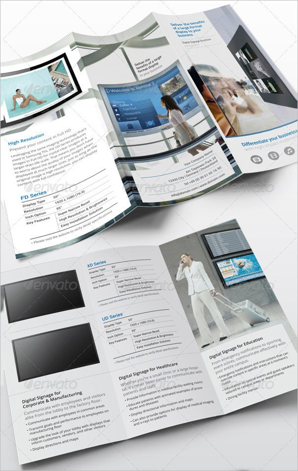 digital signage indesign brochure template