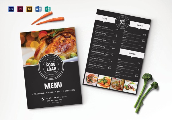dinner party menu template in psd
