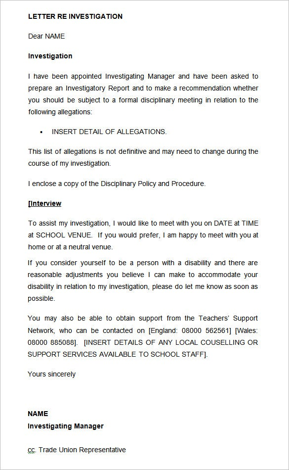 Example Of Disciplinary Action Letter from images.template.net