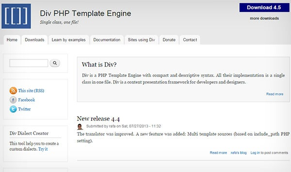 divengine php template engine