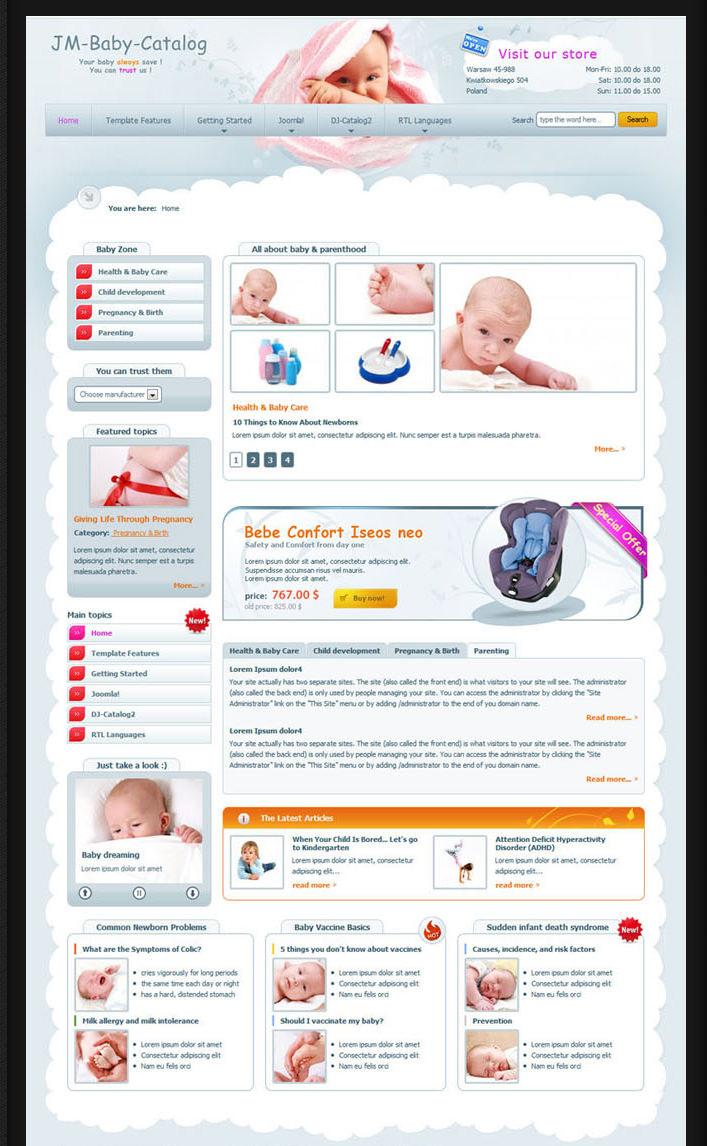 download free kids catalog drupal template