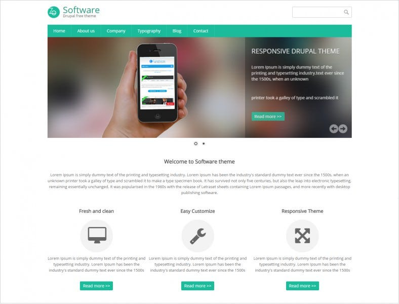 download free software responsive theme 788x600