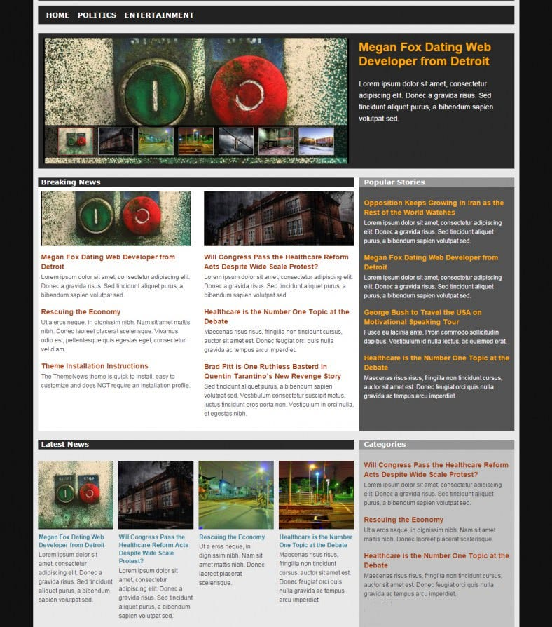 download magazine news drupal template 29 788x894