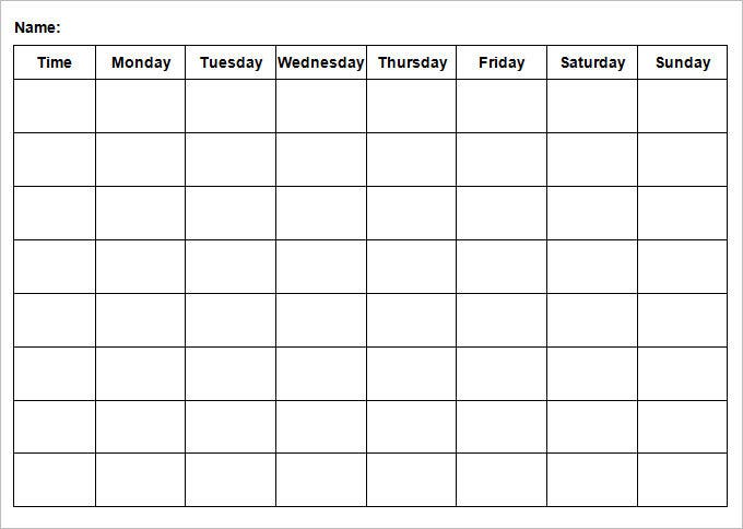 weekend itinerary template