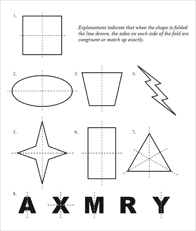 Drawing Lines Of Reflection : Sample rotational symmetry worksheet free pdf