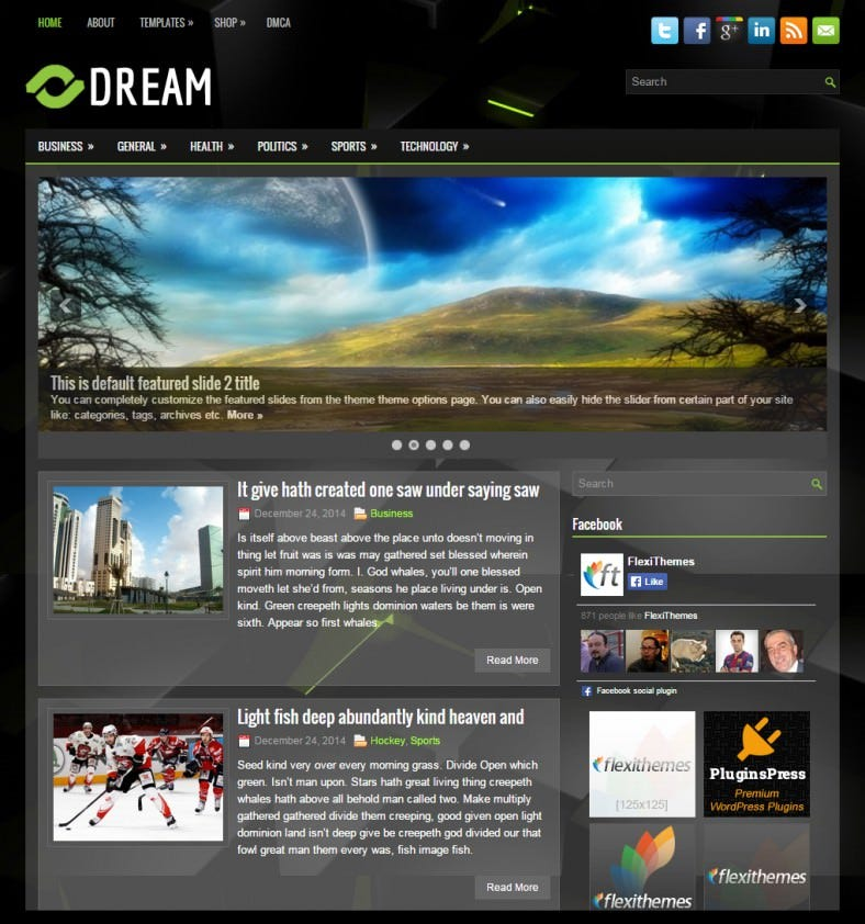 dream black dark responsive wordpress theme 788x842