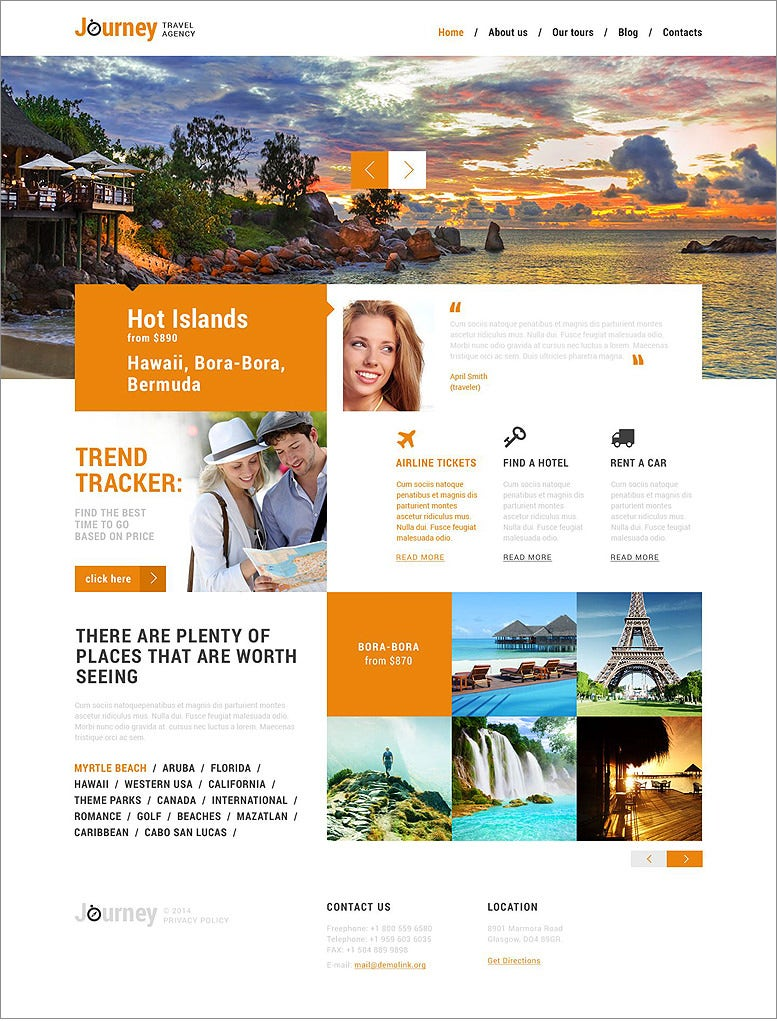 dream travel club orange responsive wordpress themes 75