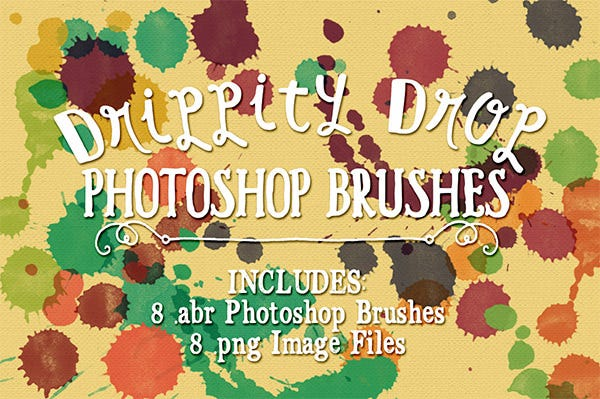 drippity drop photoshop brushes