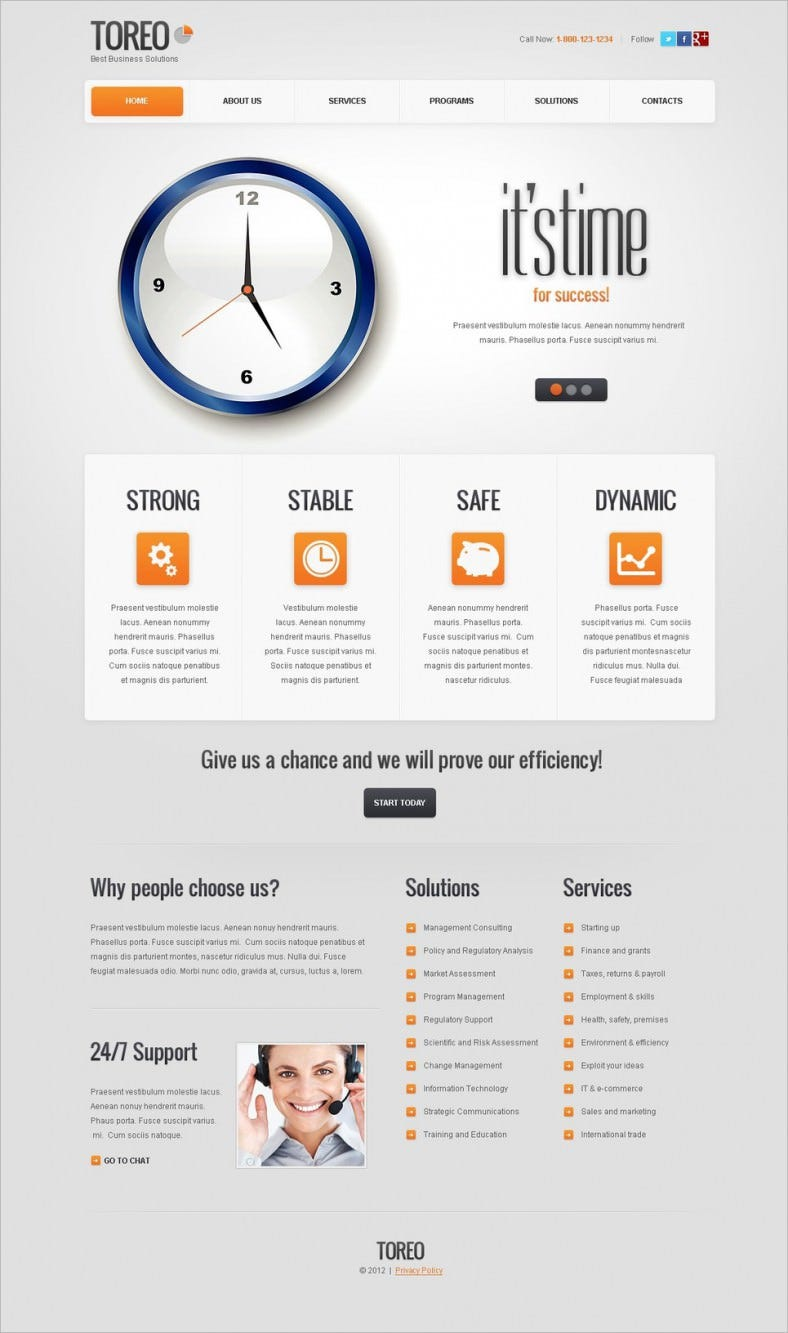 drupal template for advertising agency 788x1333