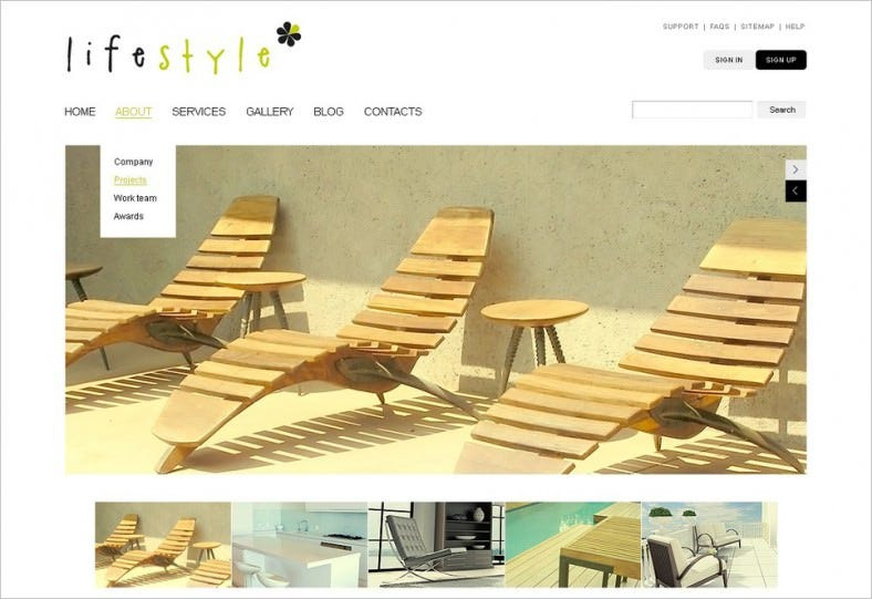 Drupal Template for Interior Design