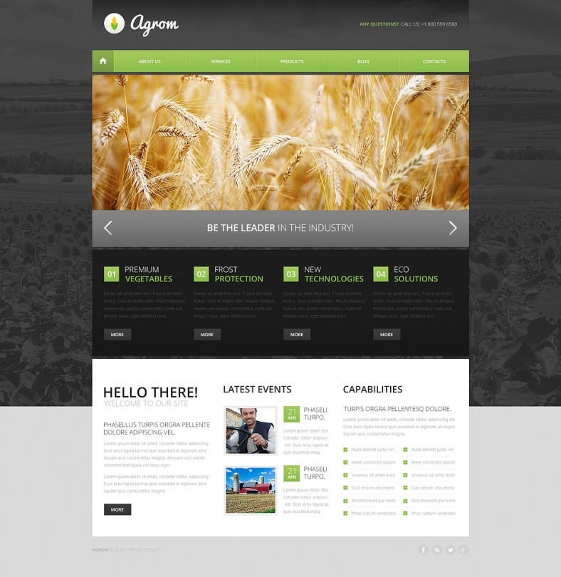 Drupal Theme for Agriculture