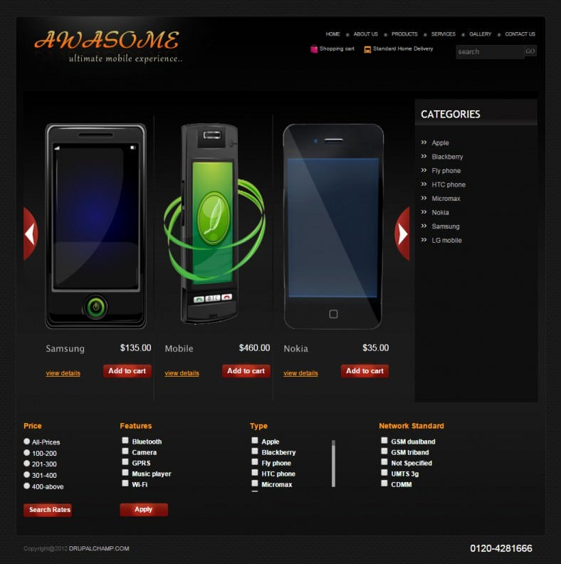 drupal theme for mobile store1 788x792