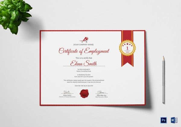 dynamic freelance employee certificate template