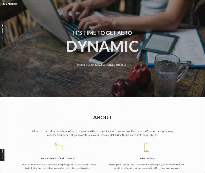 dynamic portfolio template 788x666