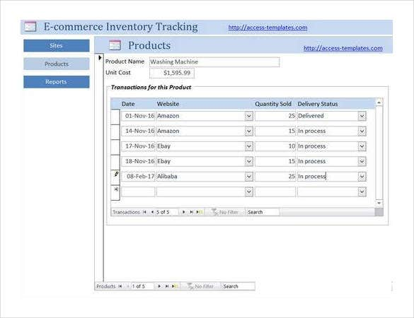 e-commerce-inventory-tracking-access-database