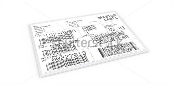 edi shipping label with sample text and barcodes