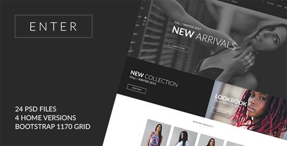 enter ecommerce psd template