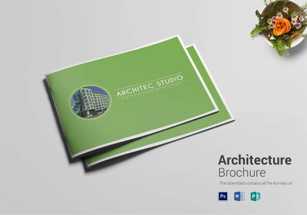 easy to edit architecture brochure download