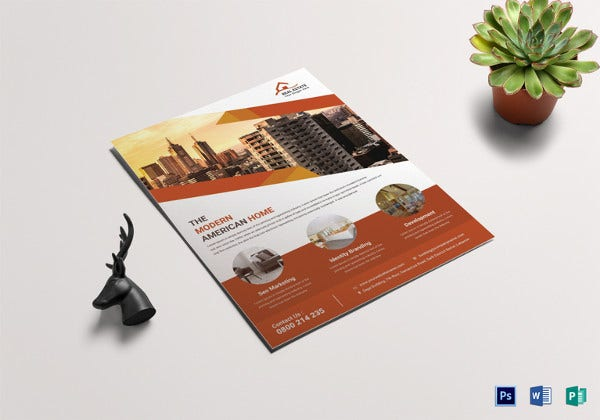 easy to edit real estate sale flyer template