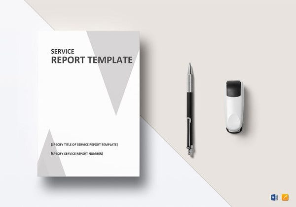 easy-to-edit-service-report-template