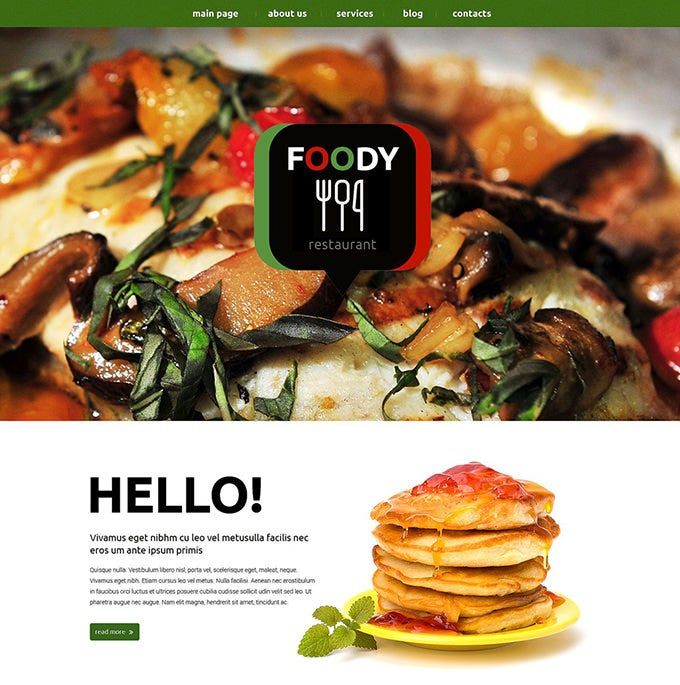 eating out drupal template1