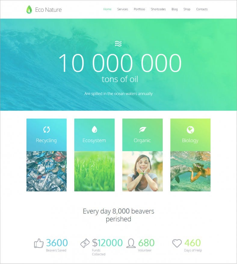 eco nature green responsive wordpress theme 58 788x877