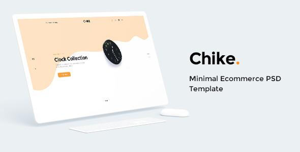 ecommerce minimal psd template