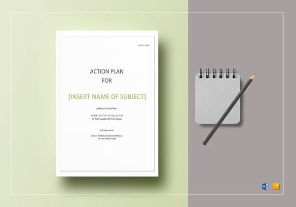 editable action plan word template