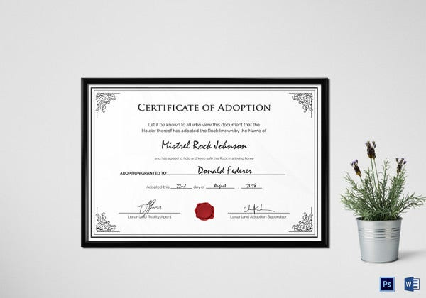 editable adoption birth certificate template